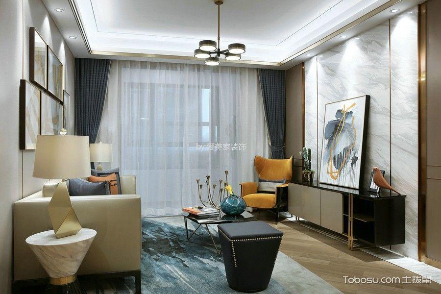 锦悦湾120㎡现代风格3居室装修效果图