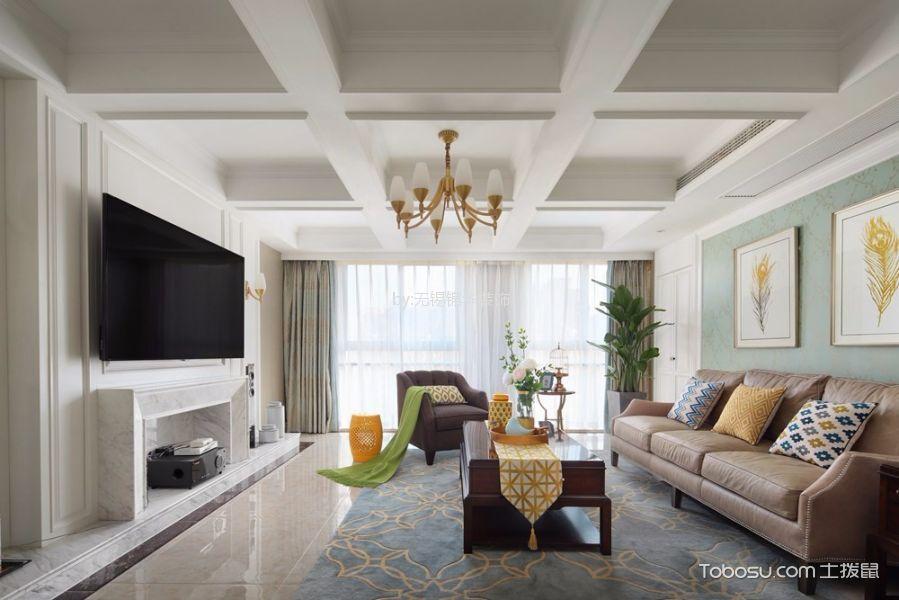 无锡长江国际花园190平米美式风格效果图