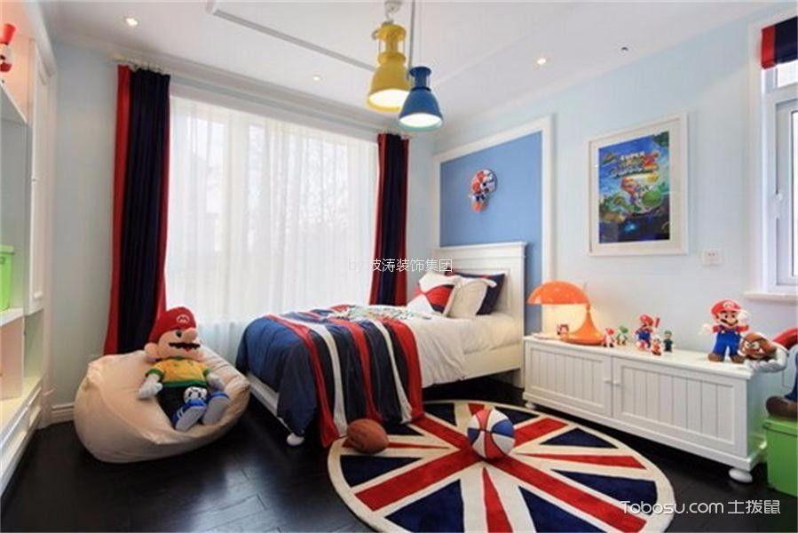 儿童房白色床新中式风格效果图
