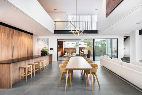 自然写意现代风格餐厅装修效果图_土拨鼠2017装修图片大全