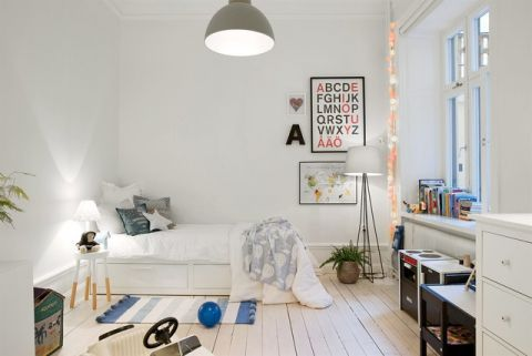 儿童房照片墙简欧风格装饰图片