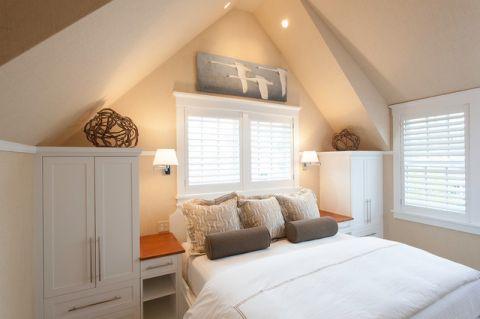 卧室背景墙简欧风格装潢设计图片
