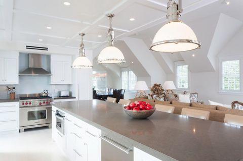 厨房吧台简欧风格装饰效果图
