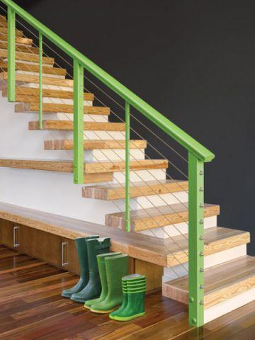 清新简约现代风格楼梯装修效果图_土拨鼠2017装修图片大全