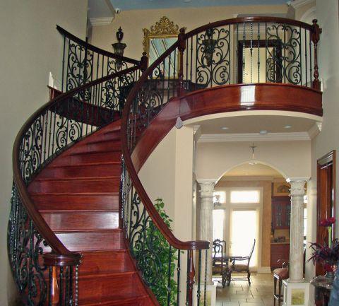 温暖简欧风格楼梯装修效果图_土拨鼠2017装修图片大全