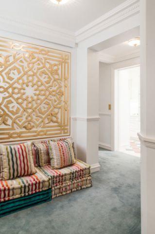 白色走廊混搭风格装潢设计图片