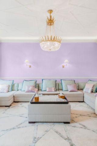 客厅粉色混搭风格装饰效果图