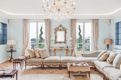 客厅米色混搭风格装潢效果图