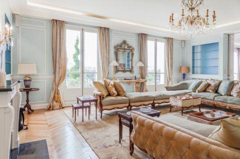 客厅米色混搭风格装修图片