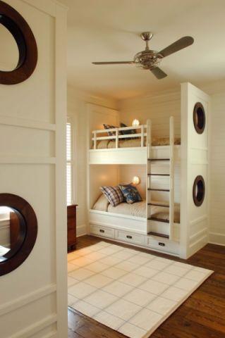 儿童房白色背景墙混搭风格装饰设计图片