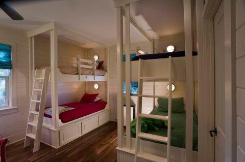 儿童房白色背景墙混搭风格效果图