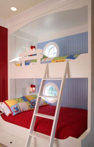 儿童房白色背景墙混搭风格装修效果图