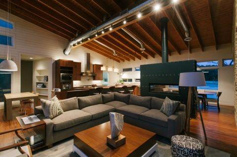 客厅吊顶现代风格装潢设计图片