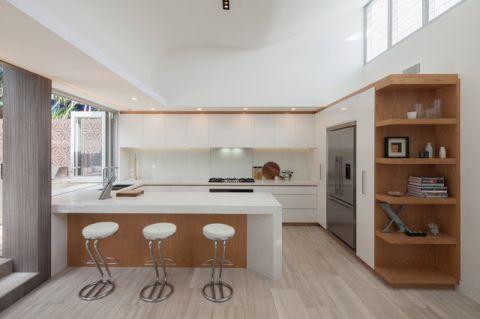 厨房白色背景墙现代风格装饰效果图
