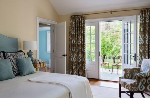 卧室窗帘美式风格装潢图片
