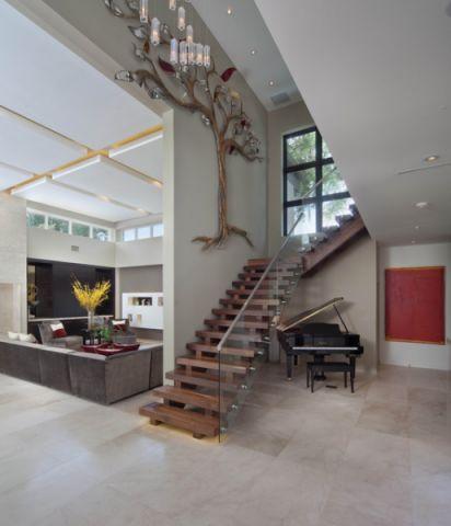 楼梯现代风格装修设计图片