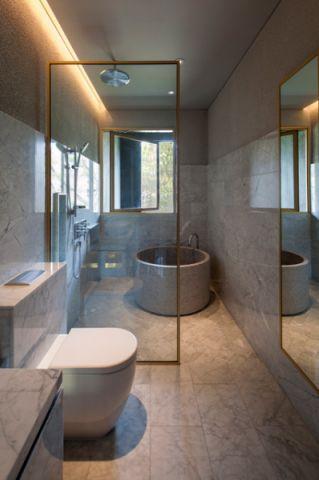 典雅现代风格浴室装修效果图_土拨鼠2017装修图片大全