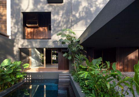 泳池现代风格装饰效果图