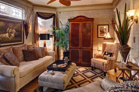 客厅简欧风格装潢效果图