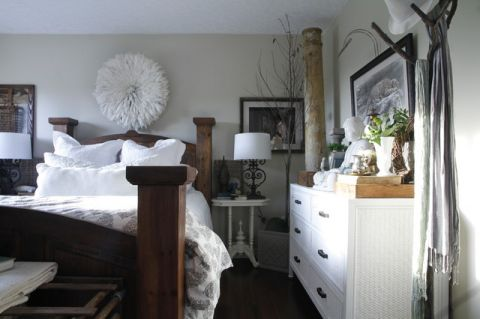 卧室白色榻榻米混搭风格效果图