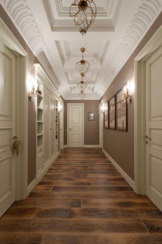 精致美式风格走廊装修效果图_土拨鼠2017装修图片大全