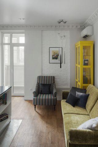 简洁优雅混搭风格客厅装修效果图_土拨鼠2017装修图片大全