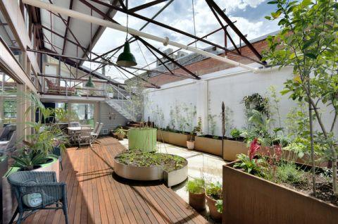 花园吊顶现代风格装修图片