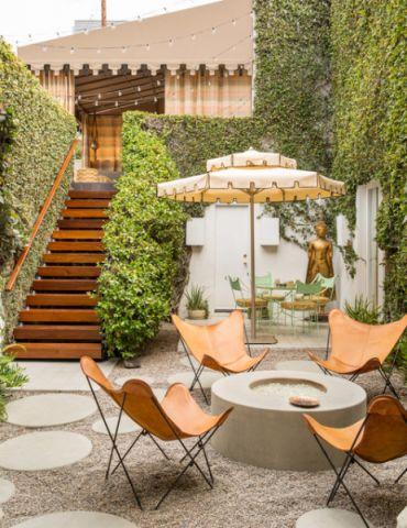 花园楼梯混搭风格装潢图片