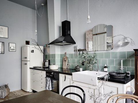 厨房背景墙简欧风格装饰效果图