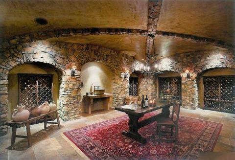 酒窖背景墙简欧风格装饰效果图