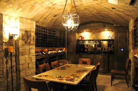酒窖吊顶简欧风格装饰图片