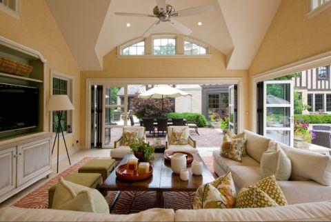 客厅细节美式风格装潢设计图片