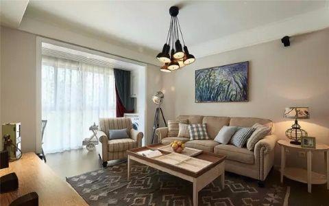 蜀南庭苑89平美式风格三居室装修效果图
