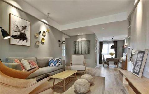 庐阳佳苑112平美式风格三居室装修效果图