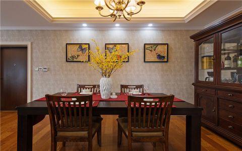 餐厅橱柜美式风格装潢效果图
