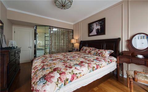 卧室隐形门美式风格装修设计图片