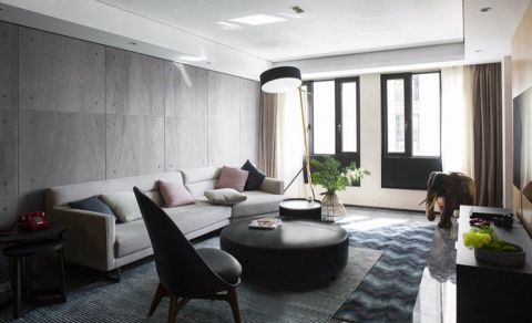 怡翠花园90平方现代风格两室两厅装修效果图