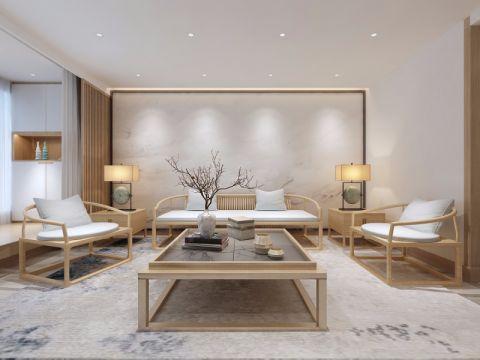 领秀城120平中式风格三室两厅装修效果图