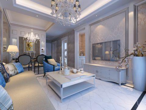 锦绣城90平米室新古典风格三居室装修效果图