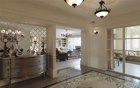 星河丹堤140平方美式风格三居室装修效果图