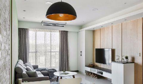 保利双子星78平方现代风格两室两厅装修效果图