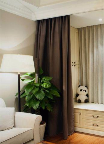 客厅飘窗美式风格装饰效果图