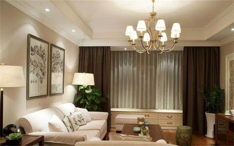 保利香槟国际96平米美式风格两居室装修案例