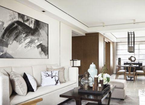 当代城市花园90平米二居室新中式风格装修效果图