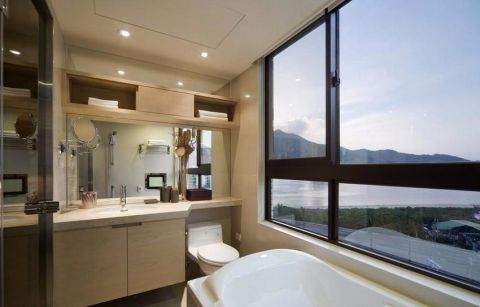 浴室浴缸现代简约风格效果图