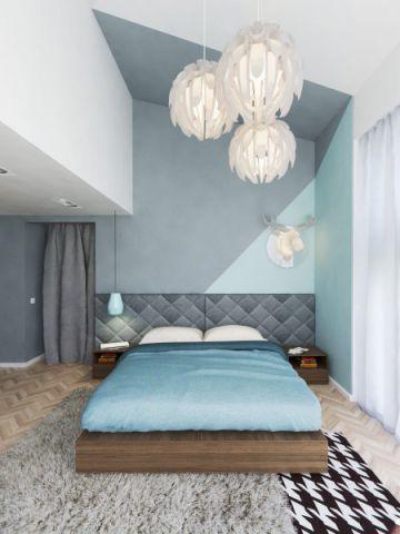 卧室吊顶北欧风格装饰效果图