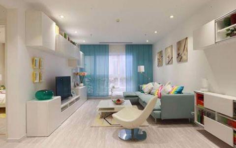 汉口年华80平现代简约风格二居室装修效果图