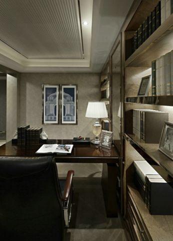 书房博古架新古典风格装饰图片