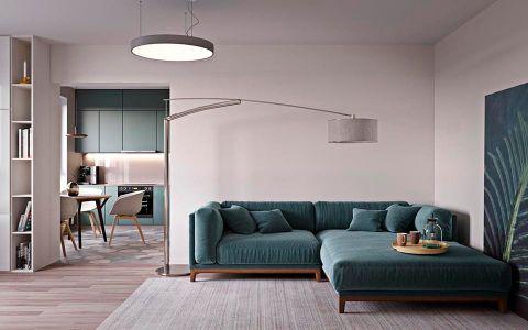 奥山世纪城87平简约风格二居室装修效果图