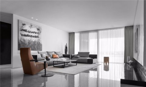海德堡120平极简现代三房装修效果图